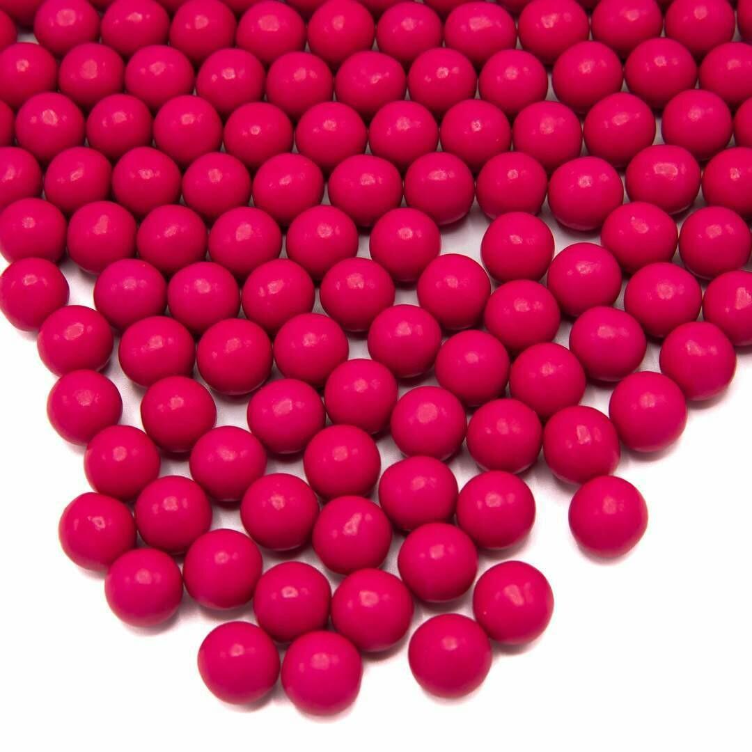 Happy Sprinkles -Choco Dragees -HOT PINK -MEDIUM 90g - Βρώσιμες σοκολατένιες πέρλες Φούξια Μεσαίες
