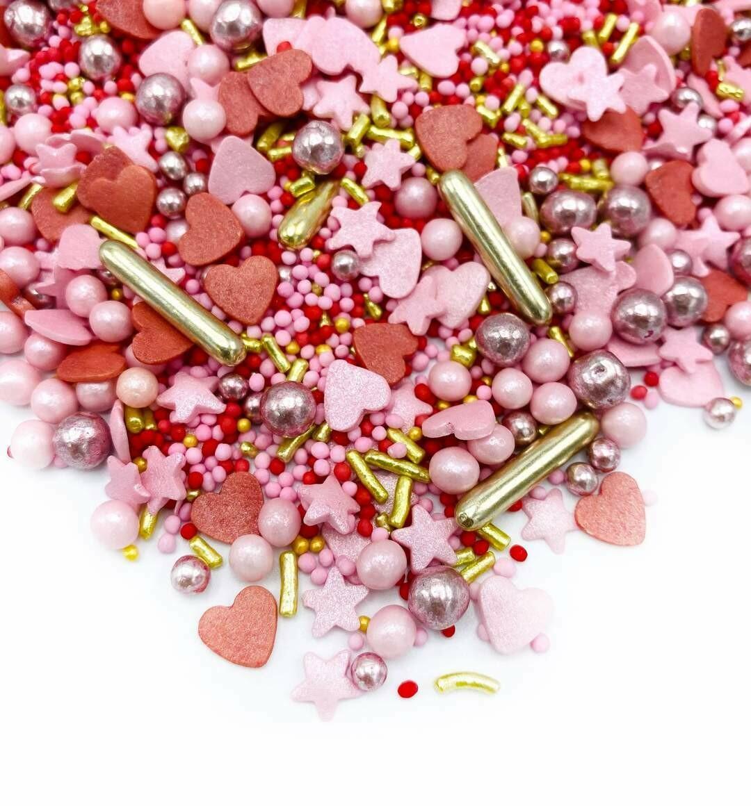 Happy Sprinkles Mix -HEAD OVER HEELS 90g - Μείγμα Ζαχαρωτών Αγίου Βαλεντίνου