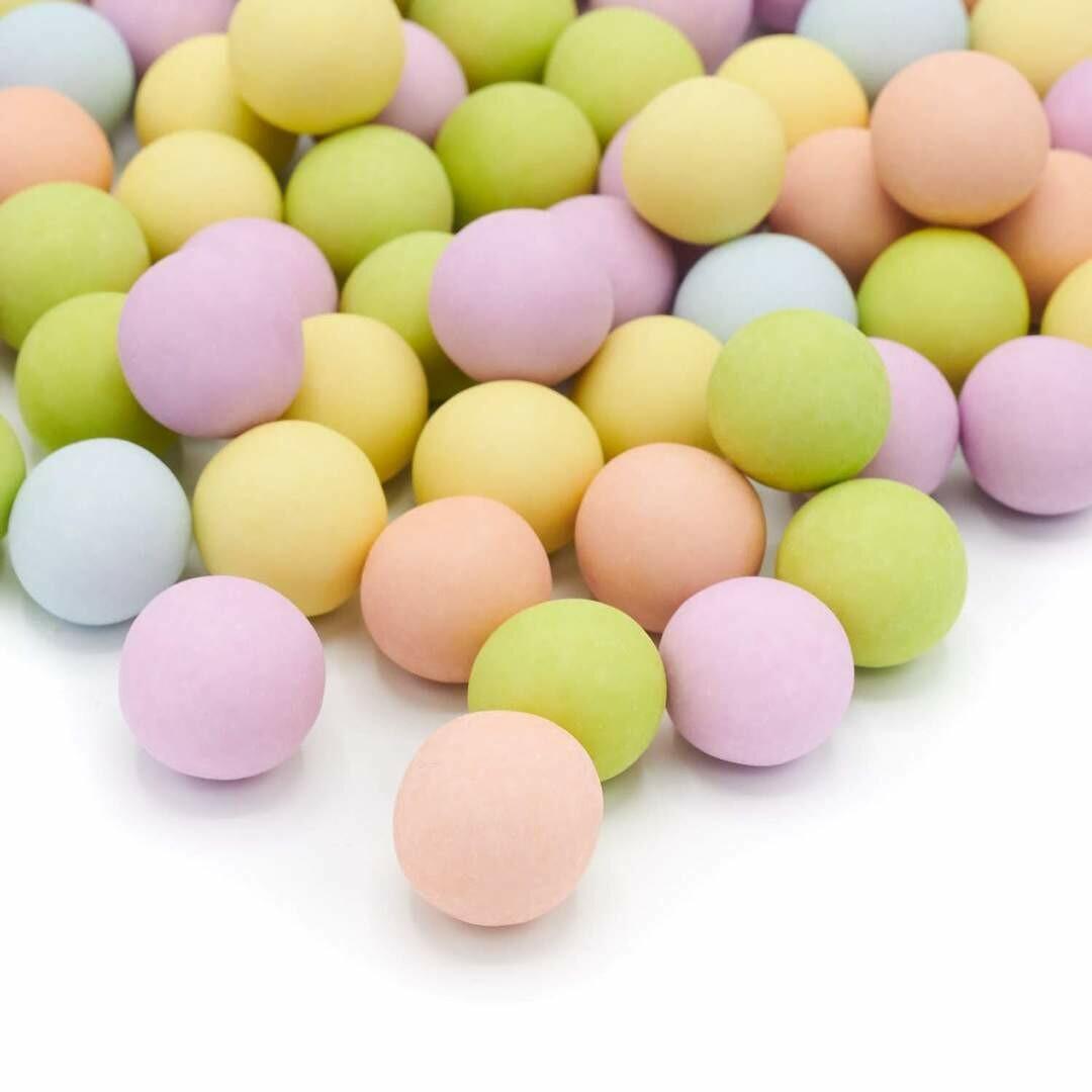 Happy Sprinkles - Choco Dragees -MATT PASTELS -XXL 135g - Βρώσιμες σοκολατένιες πέρλες σε Παστέλ Αποχρώσεις Πολύ Μεγάλες