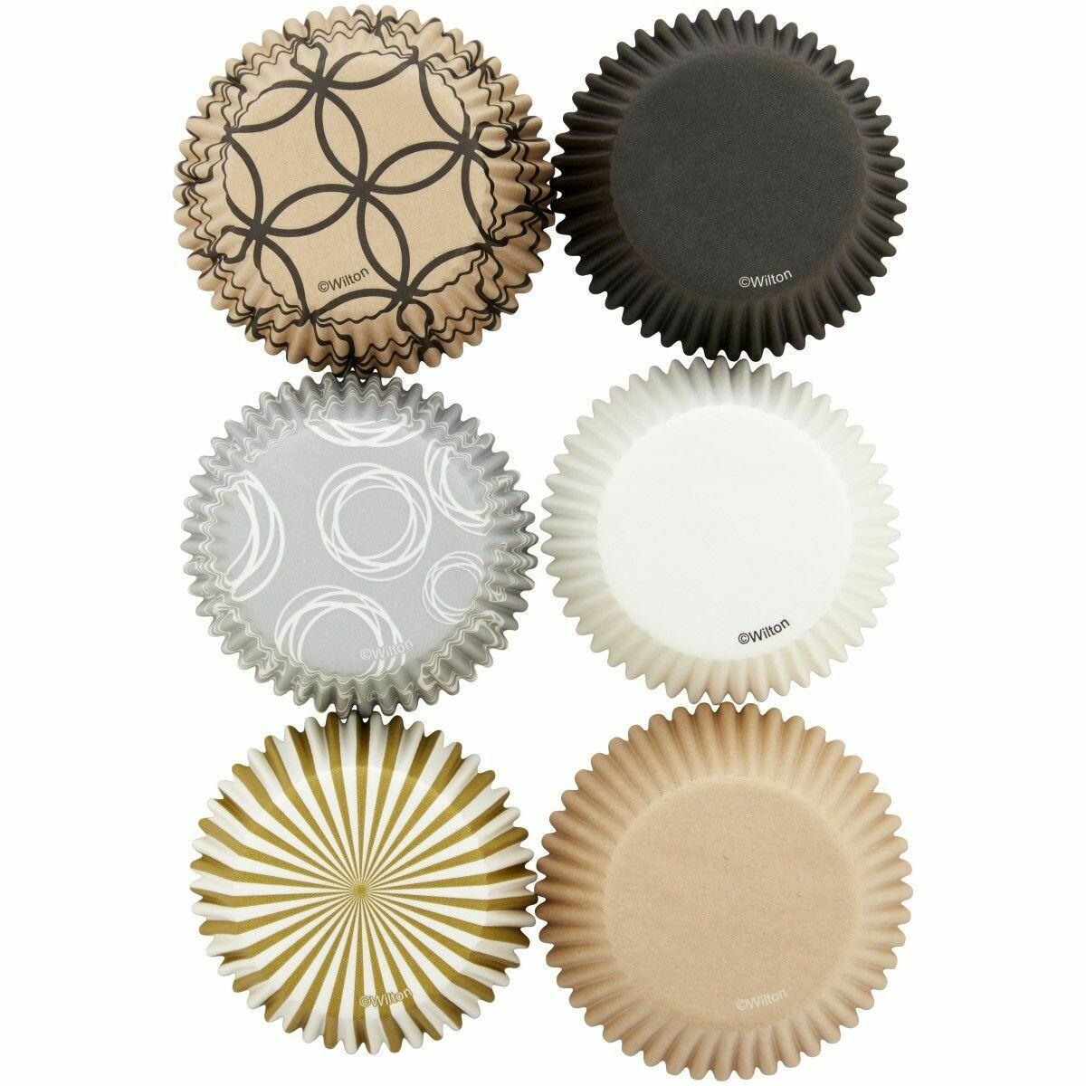 Wilton Cupcake Cases -CELEBRATE -Θήκες ψησίματος Καπκέικ/Μάφιν 150 τεμ σε Μπεζ/Καφέ Αποχρώσεις