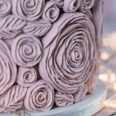 Karen Davies Silicone Mould -RUFFLED ROSES  -Καλούπι Σιλικόνης Τριαντάφυλλα