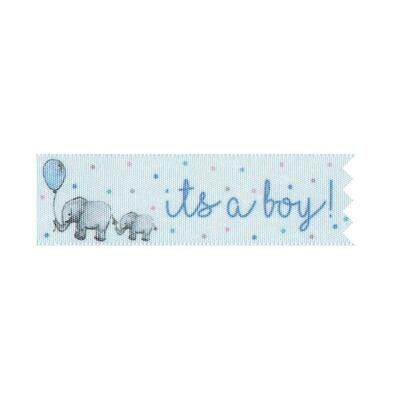 By AH Cake Ribbons -Κορδέλα Τούρτας 2.5εκ 'It's a Boy'