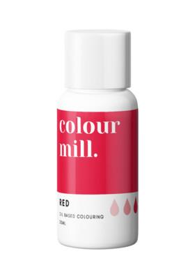 Colour Mill Oil Based Gel Colour -RED 20ml - Χρώμα Σοκολάτας σε Τζελ Κόκκινο