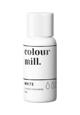 Colour Mill Oil Based Gel Colour -WHITE 20ml - Χρώμα Σοκολάτας σε Τζελ Λευκό