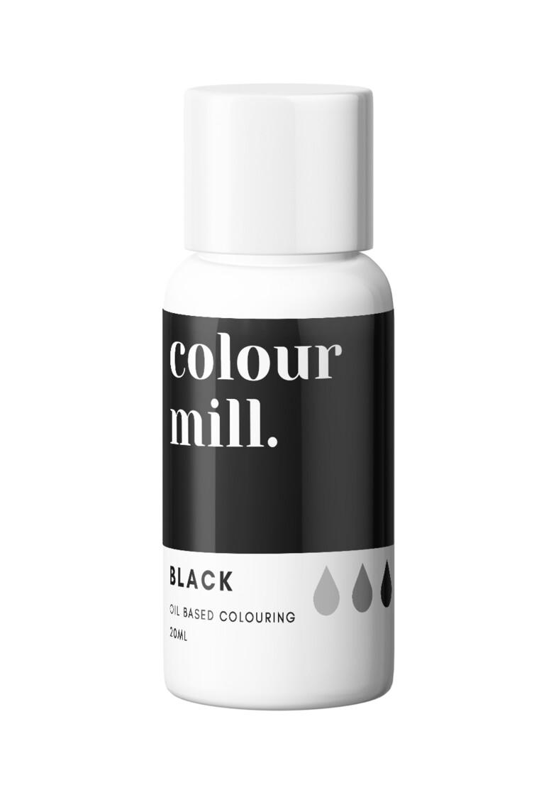 Colour Mill Oil Based Gel Colour -BLACK 20ml - Χρώμα Σοκολάτας σε Τζελ Μαύρο
