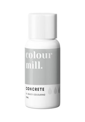 Colour Mill Oil Based Gel Colour -CONCRETE 20ml - Χρώμα Σοκολάτας σε Τζελ Γκρι