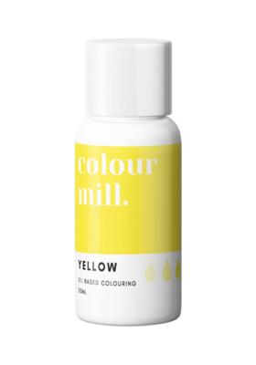 Colour Mill Oil Based Gel Colour -YELLOW 20ml - Χρώμα Σοκολάτας σε Τζελ Κίτρινο