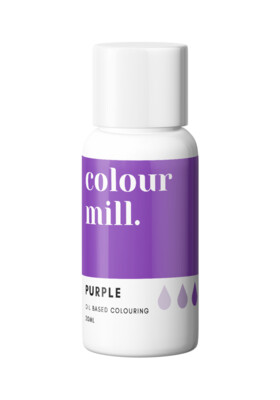 Colour Mill Oil Based Gel Colour -PURPLE 20ml - Χρώμα Σοκολάτας σε Τζελ Μωβ