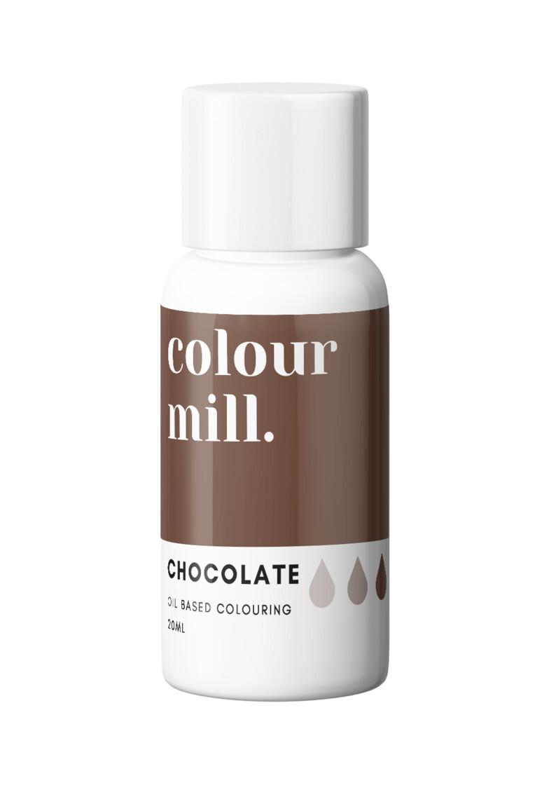 Colour Mill Oil Based Gel Colour -CHOCOLATE 20ml - Χρώμα Σοκολάτας σε Τζελ Καφέ