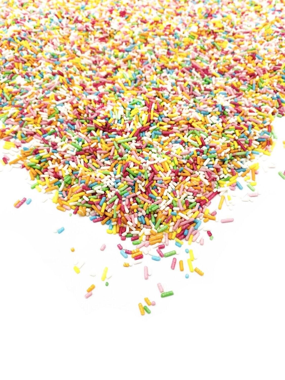 Happy Sprinkles - Jimmies -RAINBOW STRANDS 90g - Τρούφα σε αποχρώσεις του ουράνιου τόξου