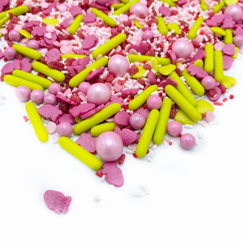 Happy Sprinkles Mix -VERY STRAWBERRY 90g - Μείγμα Ζαχαρωτών σε Ροζ Αποχρώσεις