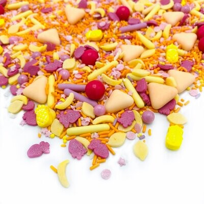 Happy Sprinkles Mix -TUTTI FRUTTI 90g - Μείγμα Ζαχαρωτών Διάφορα Φρούτα σε Έντονες Αποχρώσεις