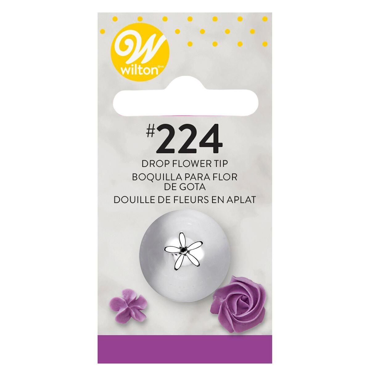 WILTON Nozzle -DROP FLOWER No.224 -Μύτη Κορνέ Λουλούδι