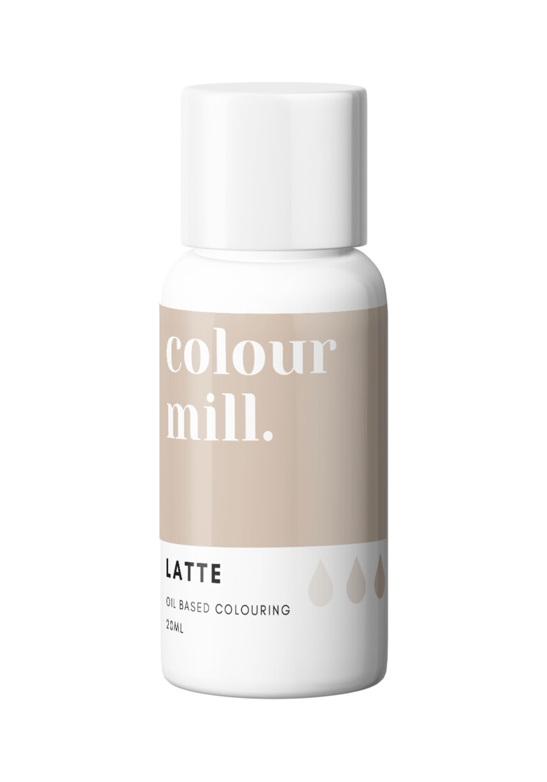 Colour Mill Oil Based Gel Colour -LATTE 20ml - Χρώμα Σοκολάτας σε Τζελ Μπεζ/Λάτε