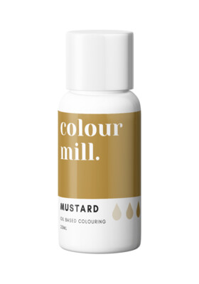 Colour Mill Oil Based Gel Colour -MUSTARD 20ml - Χρώμα Σοκολάτας σε Τζελ Μουσταρδί