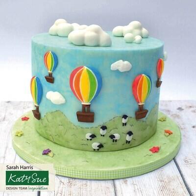 Katy Sue Silicone Mould -HOT AIR BALLOONS -Καλούπι Σιλικόνης Αερόστατο