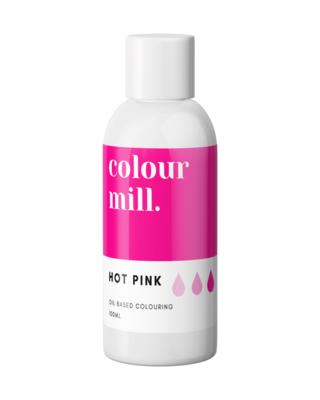 Colour Mill Oil Based Gel Colour -HOT PINK 100ml - Χρώμα Σοκολάτας σε Τζελ Φούξια