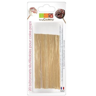 Scrapcooking Wooden 13cm Pop Sticks 20τμχ