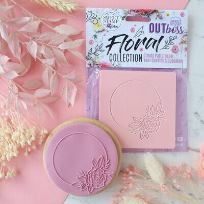 Sweet Stamp -OUTboss Floral Collection -CIRCLE FLORAL FRAME - Σφραγίδα Λουλούδι