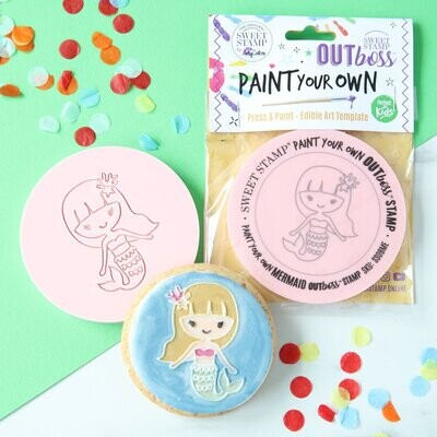Sweet Stamp -Paint Your Own -MERMAID - Σφραγίδα Γοργόνα