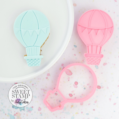 Sweet Stamp Cutter & Embosser -HOT AIR BALLOON - Κουπ Πατ και Σφραγίδα Αερόστατο