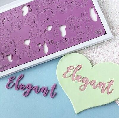 Sweet Stamp -Fonts -LARGE -ELEGANT - Σφραγίδες Γράμματα Μεγάλα Elegant