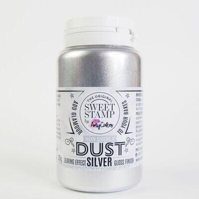 Sweet Stamp NON-EDIBLE Lustre Dust - SILVER  -Ασημί σκόνη Διακόσμησης ΜΗ ΒΡΩΣΙΜΗ ΜΗ ΤΟΞΙΚΗ 28γρ
