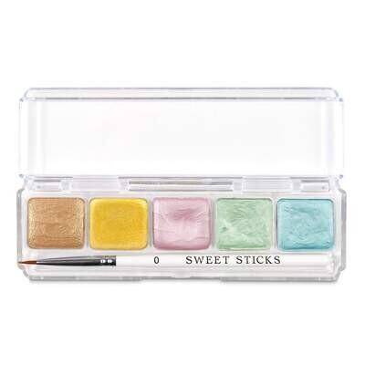 Sweet Sticks Water Activated Food Paint -Mini-Palette -FLORALS Βρώσιμα Χρώματα ζωγραφικής (τέμπερες) σε Παστέλ αποχρώσεις