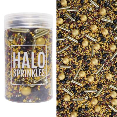 Halo Sprinkles -SPELL BOUND 125γρ - Μείγμα Ζαχαρωτών σε Χρυσές και Μαύρες αποχρώσεις