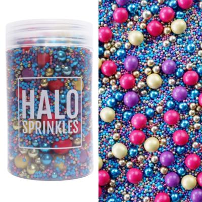 Halo Sprinkles -MIDNIGHT JEWEL 125γρ - Μείγμα Ζαχαρωτών Πέρλες και Κας-κας
