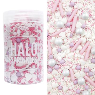 Halo Sprinkles -COTTON TAIL 125γρ - Μείγμα ζαχαρωτών σε Ροζ,Λιλά και Λευκές αποχρώσεις