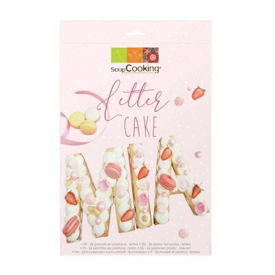 ScrapCooking Cake/Cookie Template -ALPHABET LETTERS 26τμχ