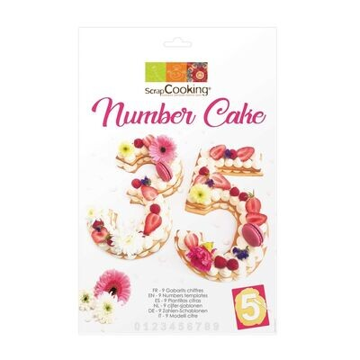 ScrapCooking Cake/Cookie Template -NUMBER 9τμχ