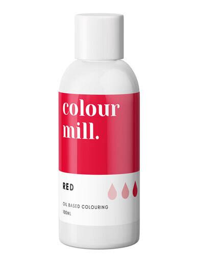 Colour Mill Oil Based Gel Colour -RED 100ml - Χρώμα Σοκολάτας σε Τζελ Κόκκινο