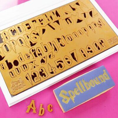 Sweet Stamp -Fonts -LARGE/MEDIUM -SPELLBOUND - Σφραγίδες Γράμματα Μεγάλα και Μεσαία Harry Potter