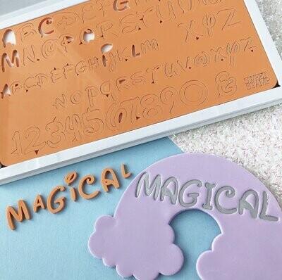 Sweet Stamp -Fonts -MEDIUM -MAGICAL - Σφραγίδες Γράμματα Μεσαία Disney/Ντίσνεϋ
