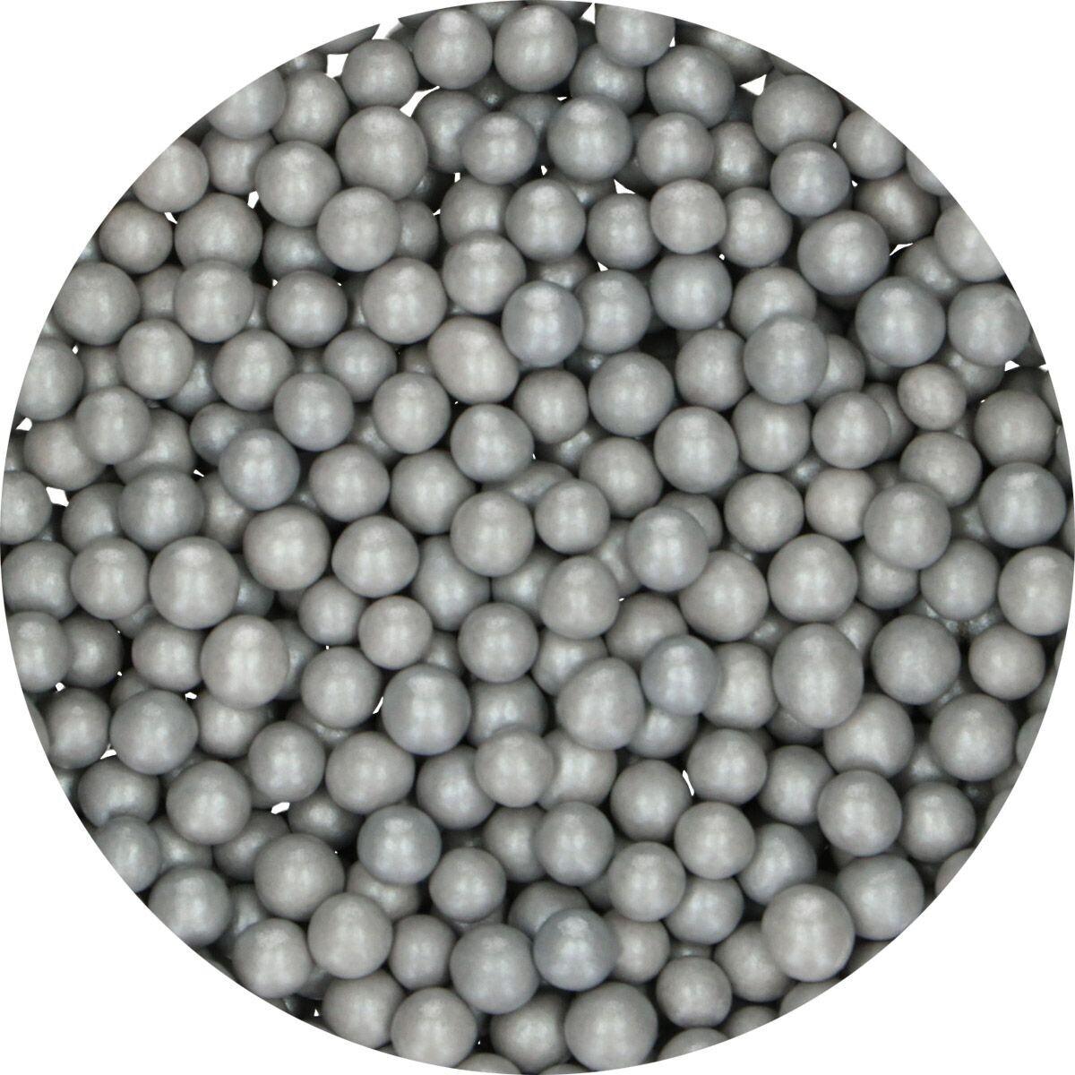 FunCakes Candy Choco Pearls Medium Silver 80γρ - Μεσαίες Σοκολατένιες Πέρλες Ασημί