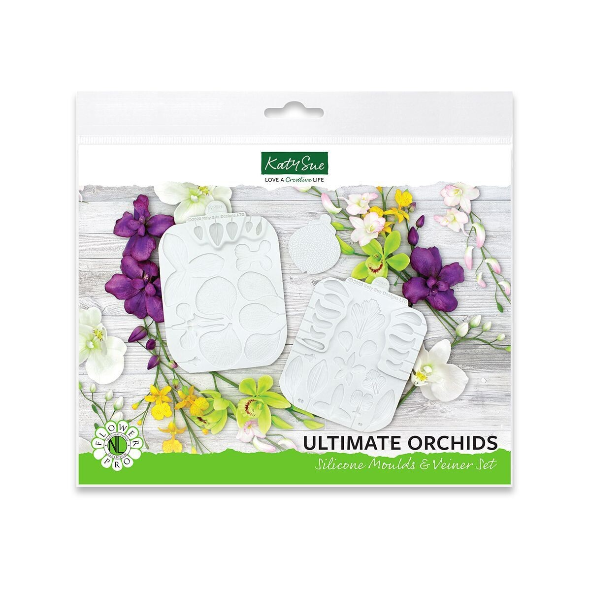 Katy Sue Silicone Mould & Veiner -ULTIMATE ORCHIDS - Καλούπι Σιλικόνης και Πατάκι Ορχιδέα