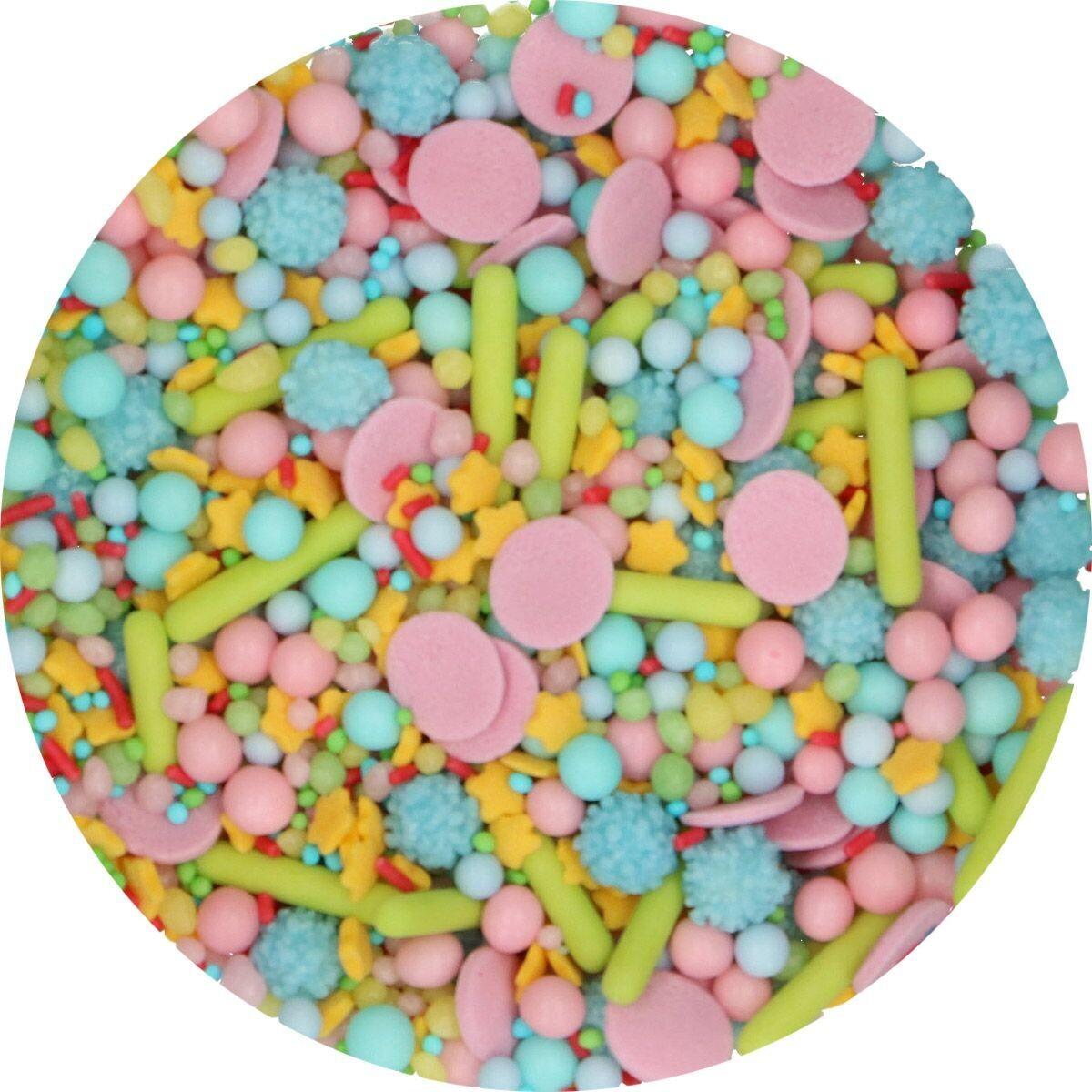FunCakes Sprinkle Mix 65γρ -HAPPY MEDLEY - Μείγμα  Ζαχαρωτών σε Παστέλ Αποχρώσεις