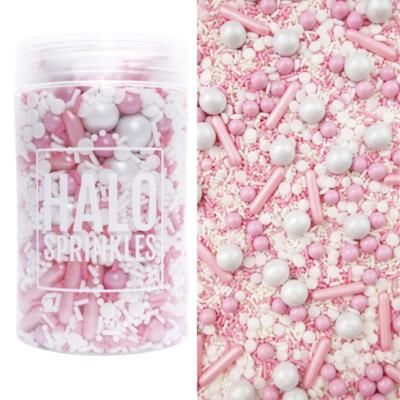 Halo Sprinkles 125γρ -BUNDLE OF JOY - Μείγμα  Ζαχαρωτών σε Ροζ και Λευκές Αποχρώσεις