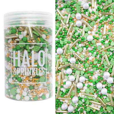Halo Sprinkles 125γρ -IRISH CHARMS - Μείγμα Ζαχαρωτών σε Λευκές και Πράσινες Αποχρώσεις
