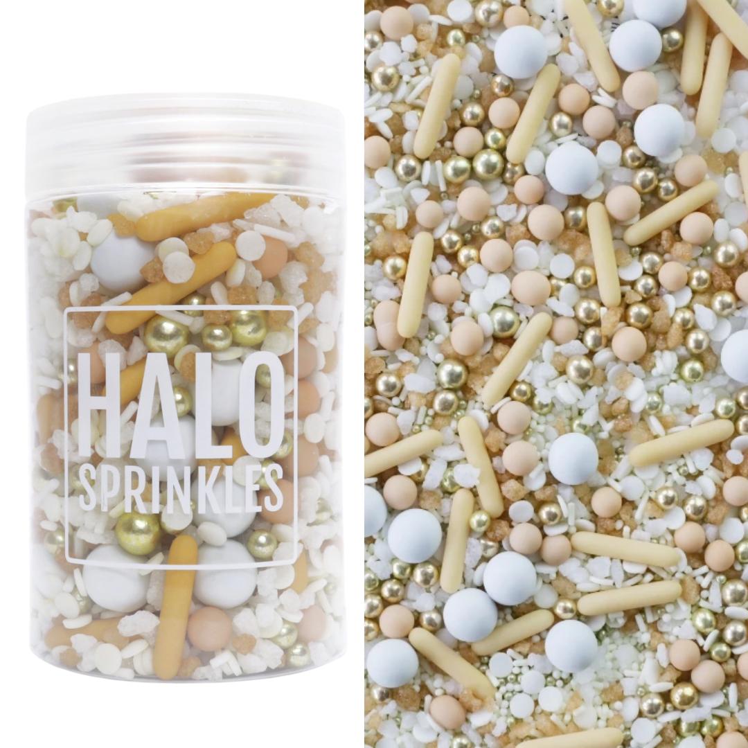Halo Sprinkles 125γρ -GOLDEN DESERT - Μείγμα  Ζαχαρωτών σε Λευκές, Μπεζ και Χρυσές Αποχρώσεις