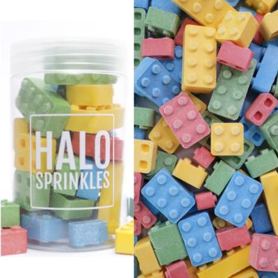 Halo Sprinkles 125γρ -CANDY BLOX - Βρώσιμα Διακοσμητικά Ζαχαρωτά Τουβλάκια Lego