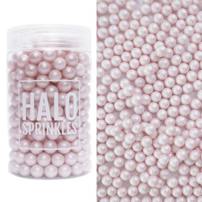 Halo Sprinkles 105γρ -Sugar Pearls -PEARL PINK -  Μείγμα Ζαχαρωτών Πέρλες Ροζ Περλέ