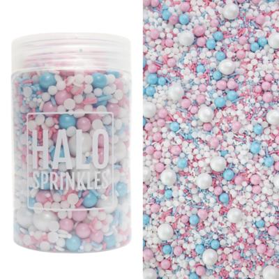 Halo Sprinkles 125γρ -WHAT WILL IT BE? - Μείγμα Ζαχαρωτών σε Ροζ, Γαλάζιες και Λευκές Αποχρώσεις