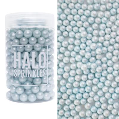 Halo Sprinkles 105γρ -Sugar Pearls -PEARL BLUE - Μείγμα Ζαχαρωτών Πέρλες Μπλε/Γαλάζιο Περλέ