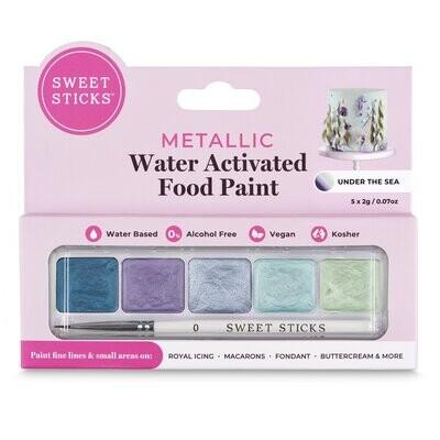 Sweet Sticks Water Activated Food Paint -Mini-Palette -UNDER THE SEA -  Βρώσιμα Χρώματα ζωγραφικής (τέμπερες) σε Μπλε αποχρώσεις