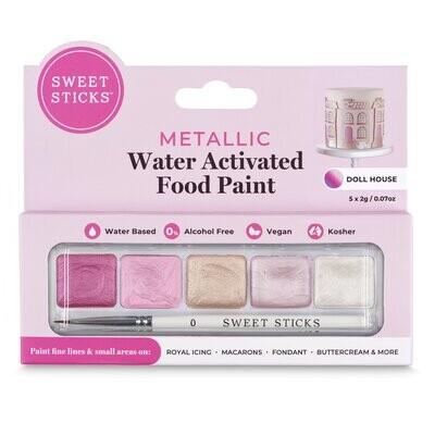 Sweet Sticks Water Activated Food Paint -Mini-Palette -DOLL HOUSE - Βρώσιμα Χρώματα ζωγραφικής (τέμπερες) σε Ροζ αποχρώσεις