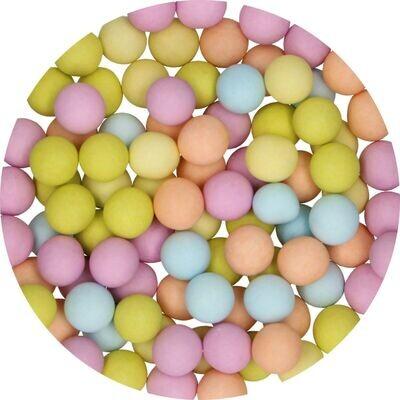 FunCakes Candy Choco Pearls Large ΜΑΤΤ ΜΙΧ 70γρ - Μεγάλες Σοκολατένιες Πέρλες Ματ σε Παστέλ Αποχρώσεις