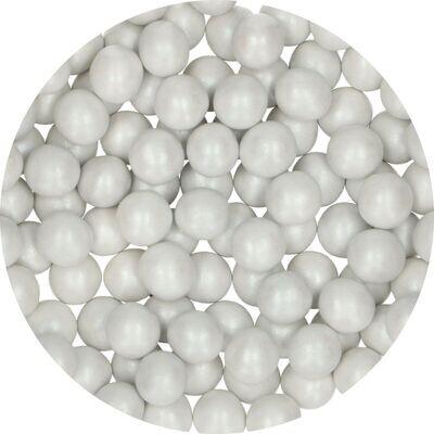 FunCakes Candy Choco Pearls Large WHITE 70γρ - Μεγάλες Σοκολατένιες Πέρλες Λευκές